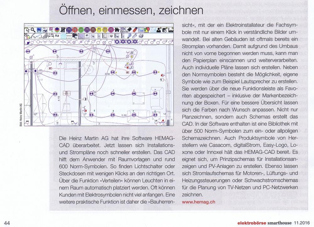 Planzeichnen und Schemazeichnen mit dem | HEMAG-CAD